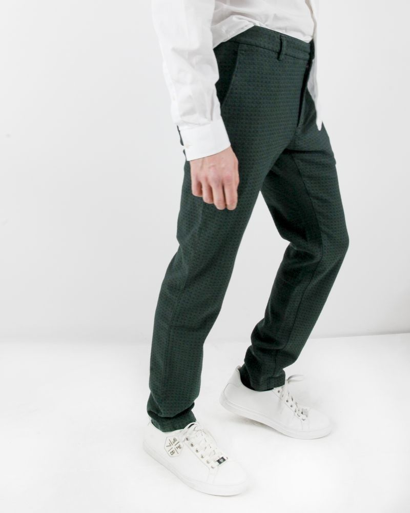 Pantalon texturé vert Department 5