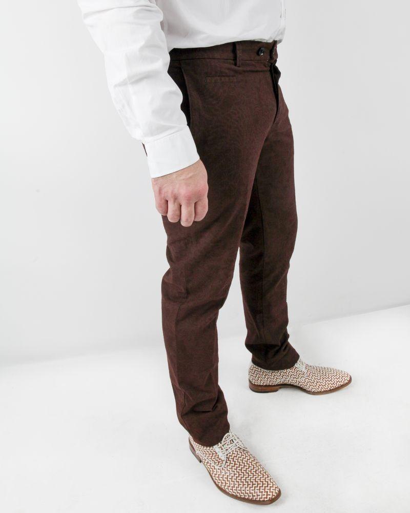 Pantalon à pince bronze à motifs baroques Roda