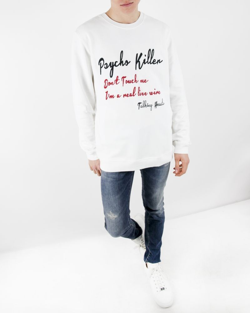 "Sweat blanc ""Psycho Killer"" Department 5"