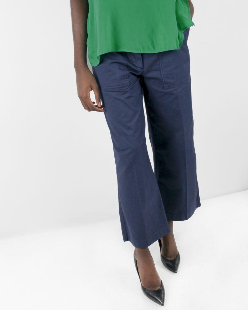 Pantalon ample bleu marine Department 5 femme
