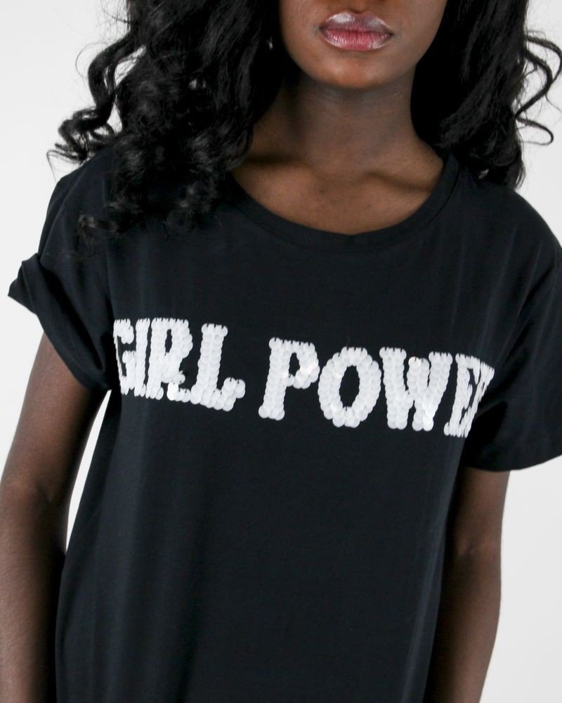 "T-Shirt ""Girl Power"" Frankie Morello"