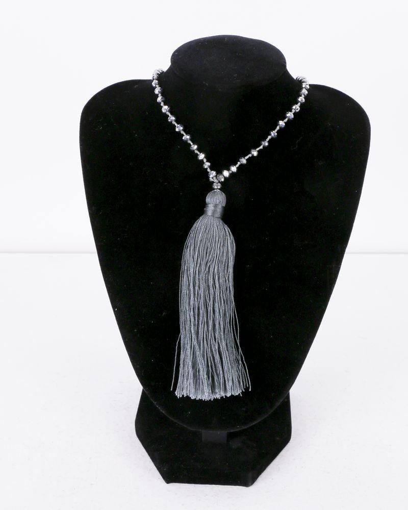 Collier gris à perles argents La Piscine