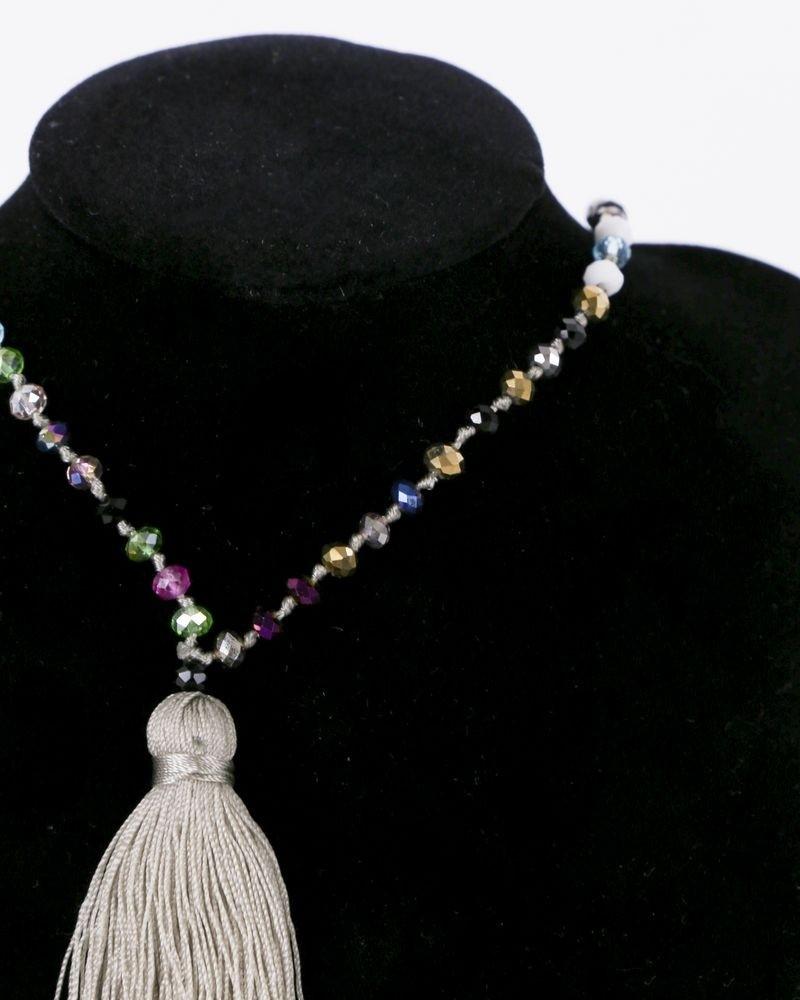 Collier beige à perles multicolores La Piscine