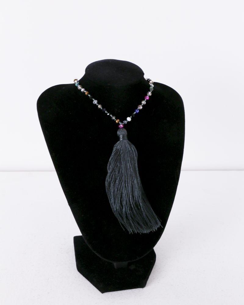 Collier gris à perles multicolores La Piscine
