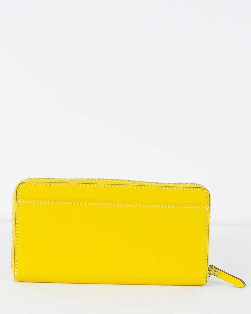 Porte feuille jaune Kate Spade