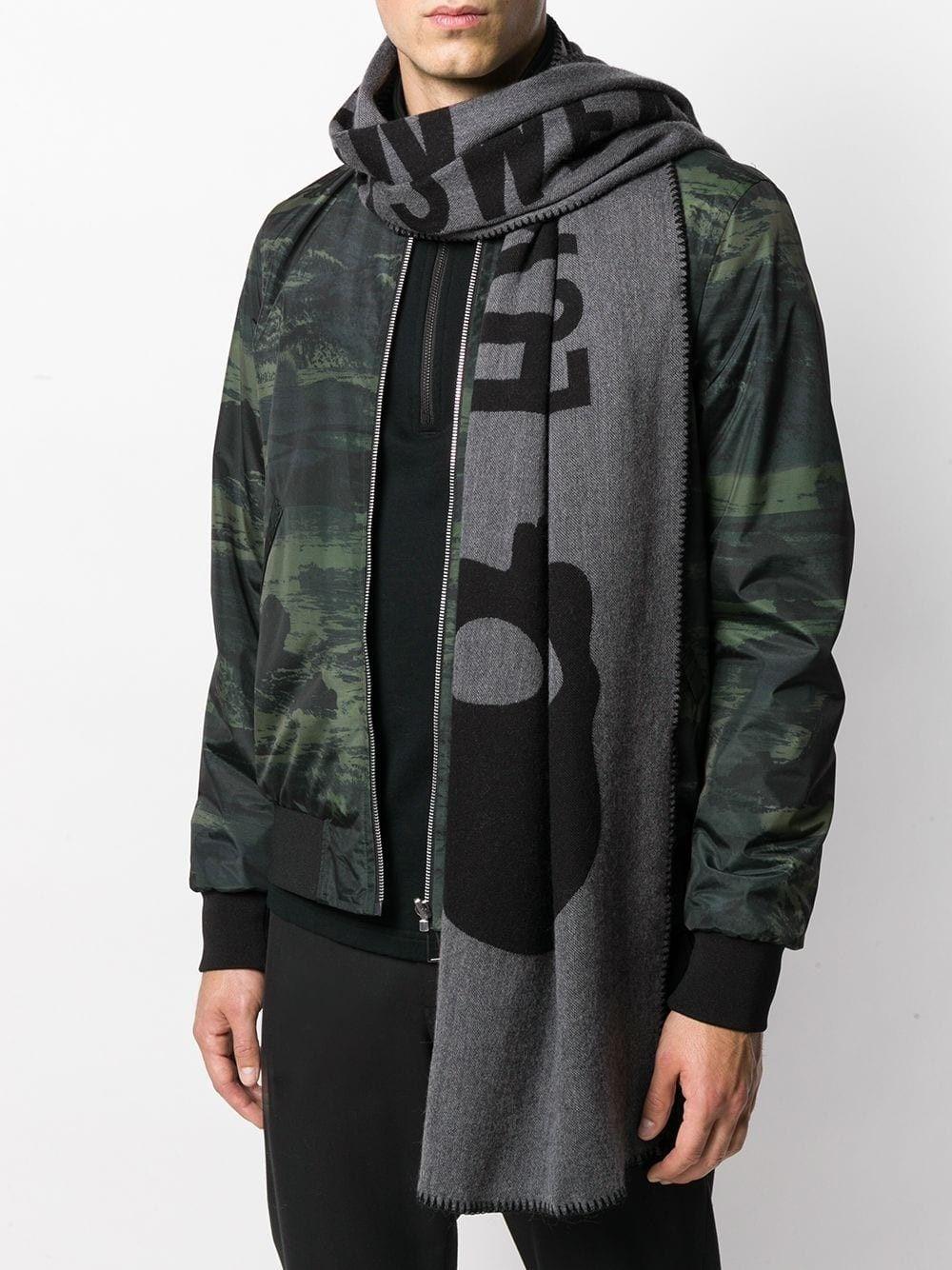 """Echarpe noire """"Luxury Sportswear"""" Hydrogen Homme"""
