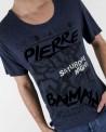 "T-Shirt bleu ""Saturday Night"" Pierre Balmain"