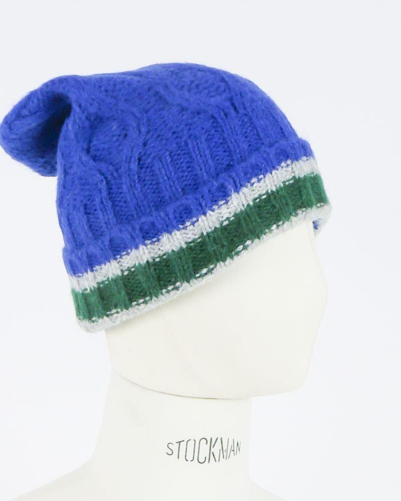 Bonnet à revers bleu Woolgroup
