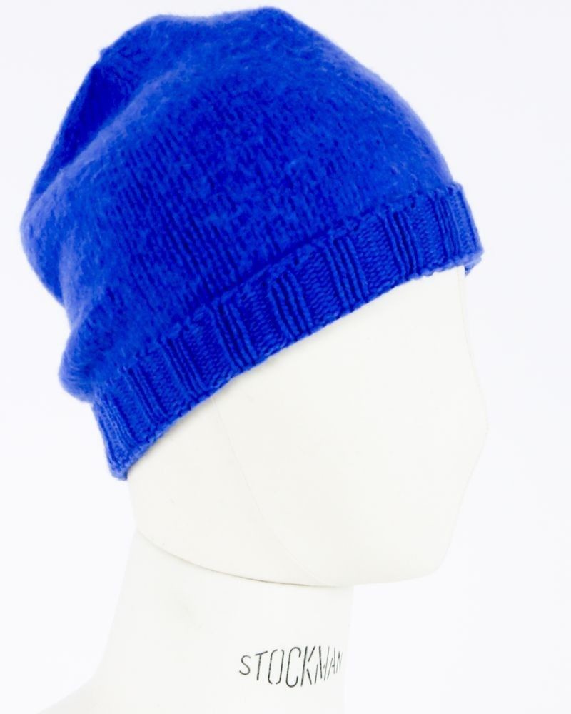 Bonnet en laine bleu Woolgroup