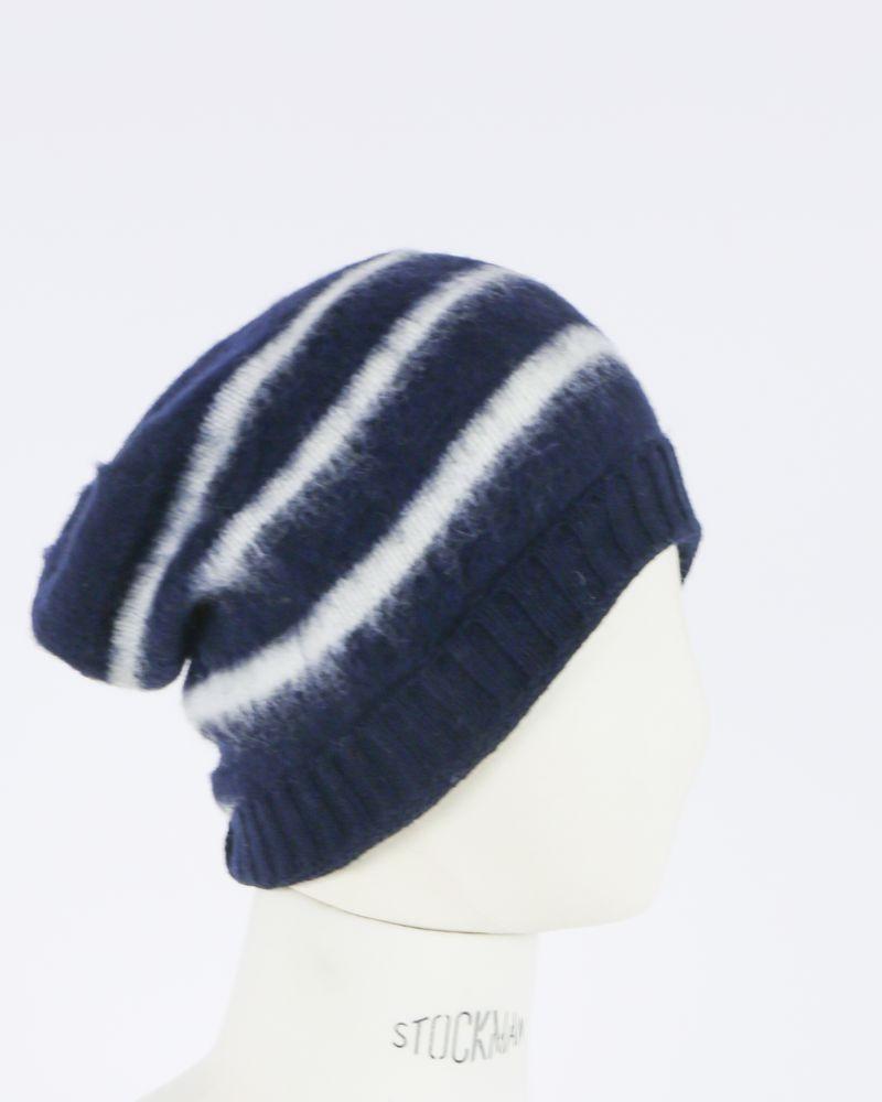 Bonnet à rayures bleu et blanc Woolgroup
