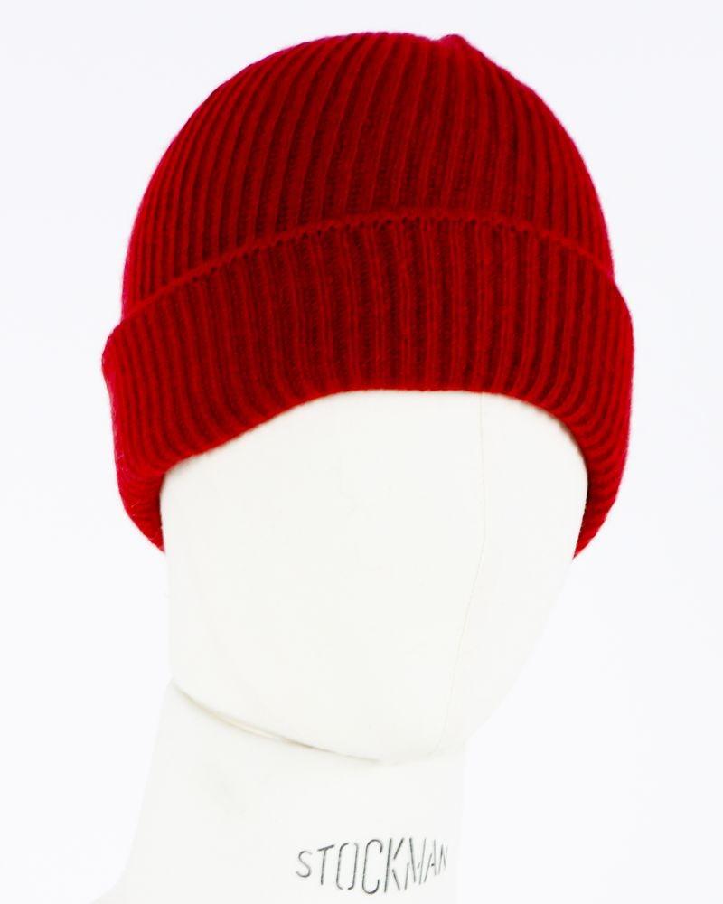 Bonnet à revers rouge Woolgroup