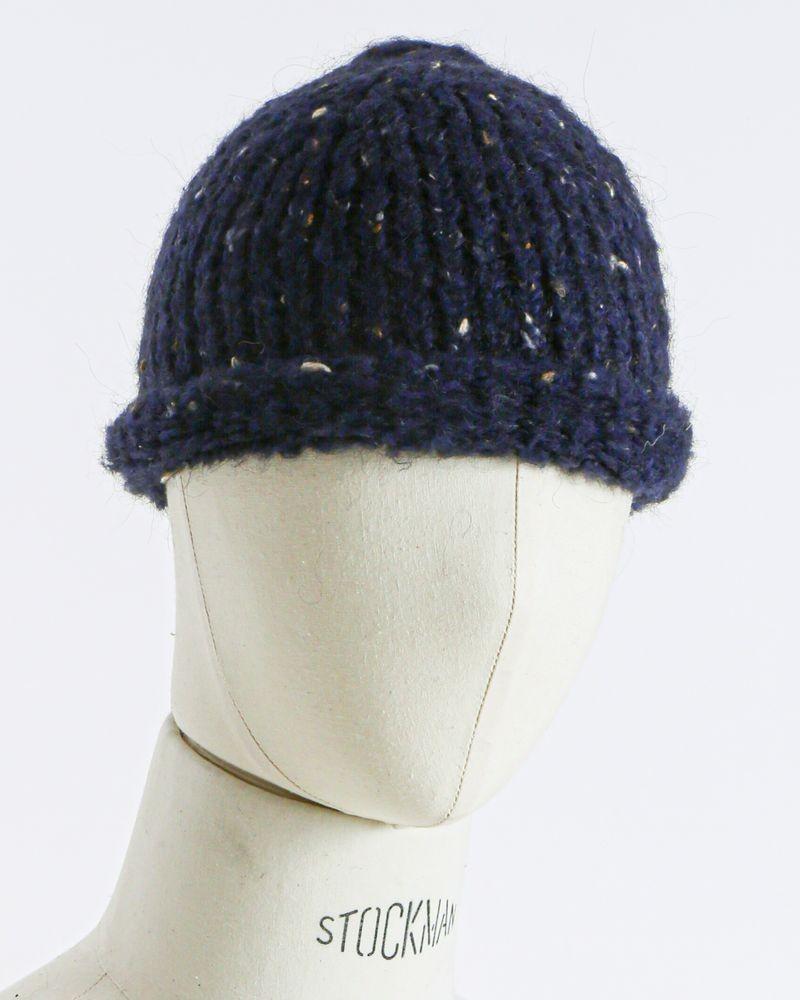 Bonnet moucheté bleu Woolgroup
