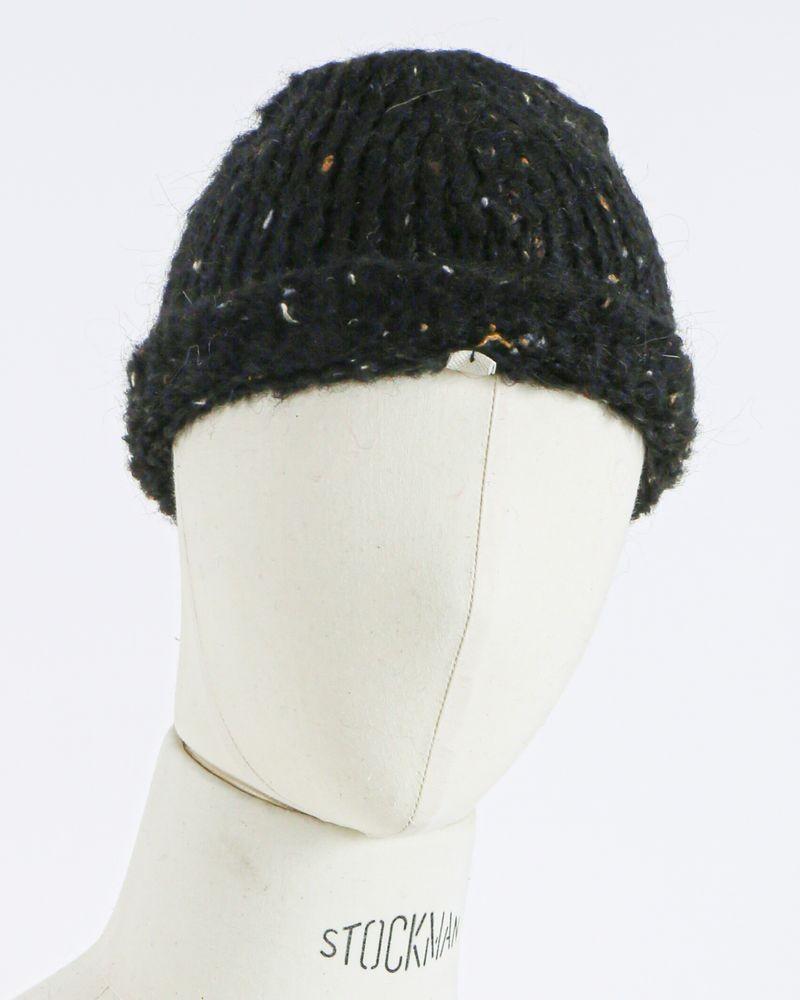 Bonnet moucheté noir Woolgroup