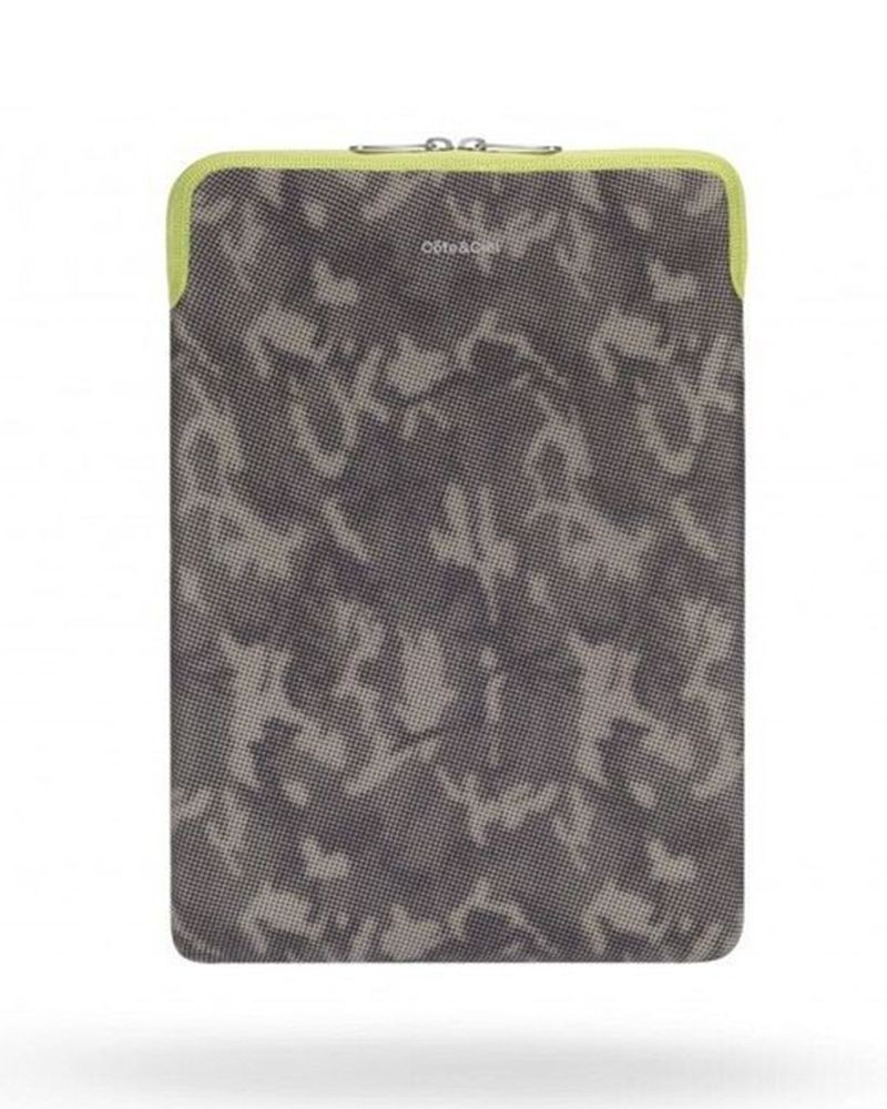 """Pochette ordinateur kaki camouflage 11"""" Côte & Ciel"""