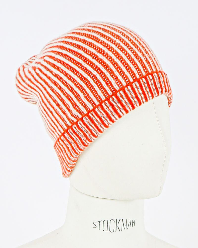 Bonnet en eco cachemire orange Daniele Fiesoli