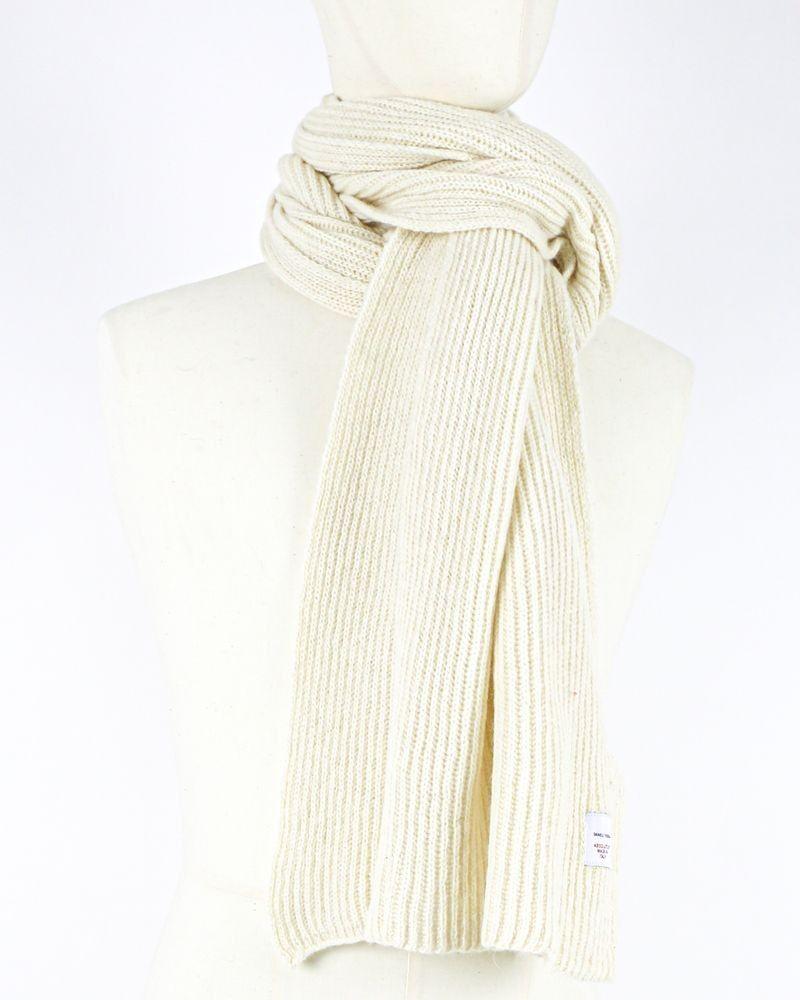Grande écharpe en alpaga côtelé beige Daniele Fiesoli