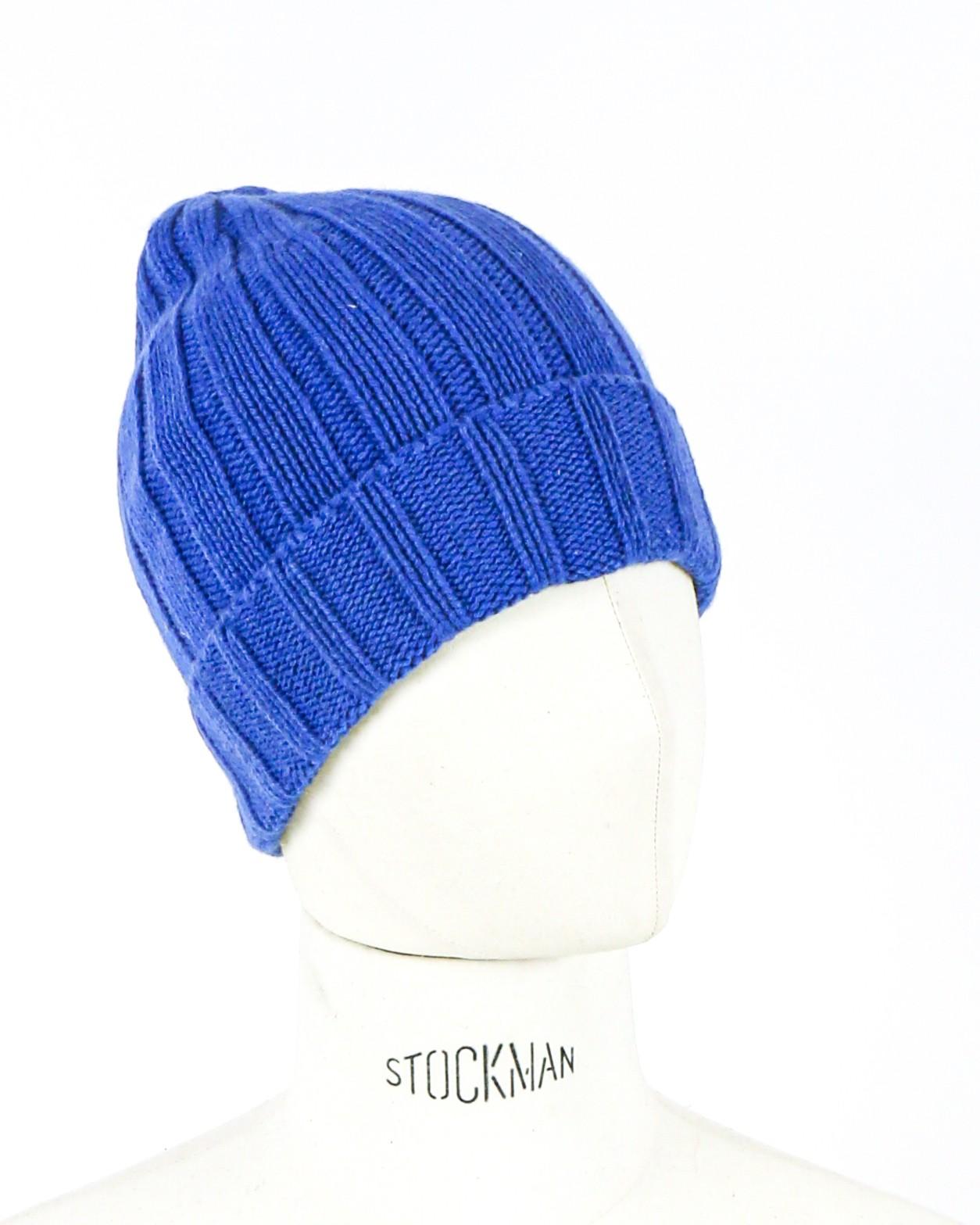 Bonnet en éco cachemire bleu tressé Daniele Fiesoli