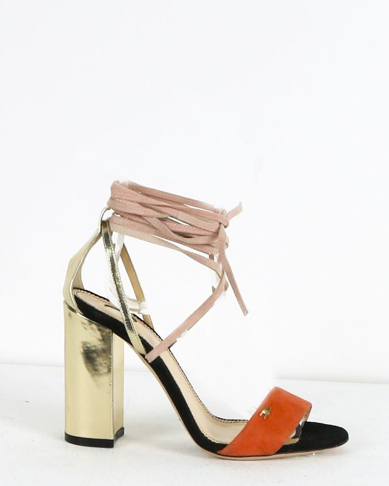 Sandales en daim beige Elisabetta Franchi