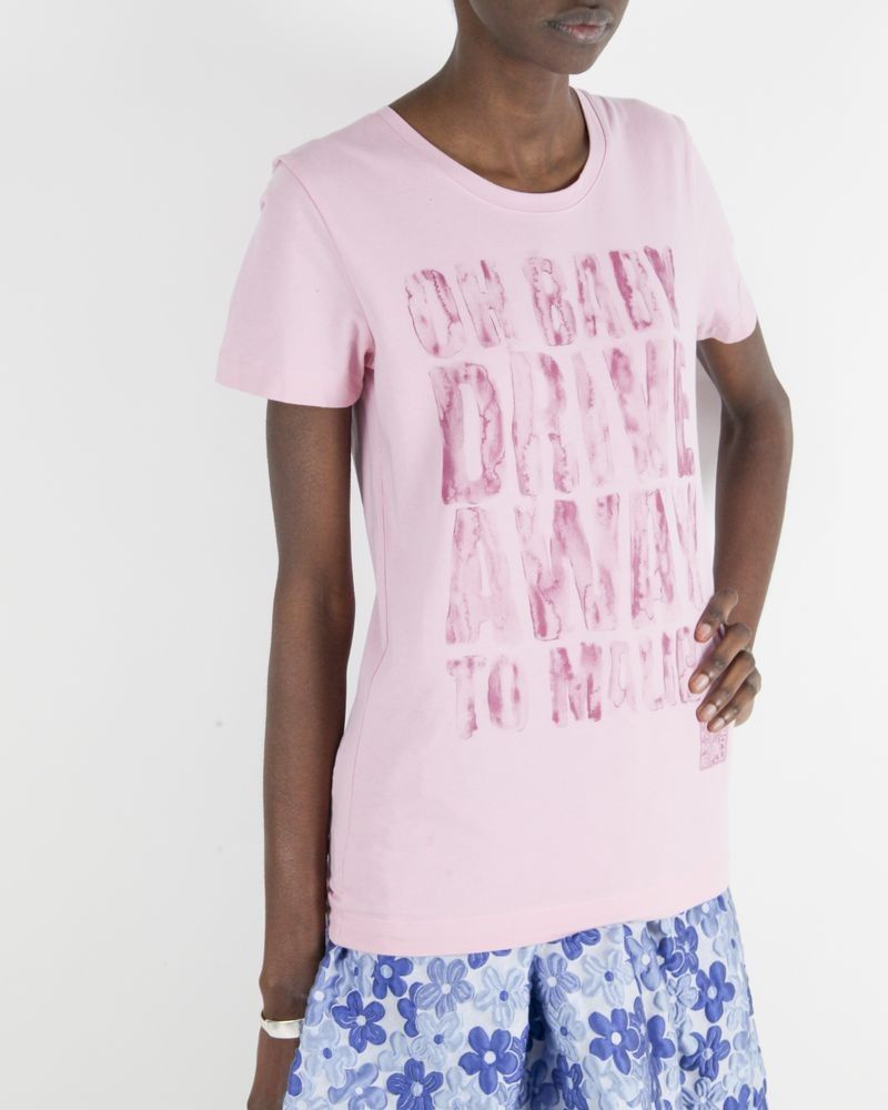 """T-shirt """"Oh Baby"""" rose Frankie Morello"""