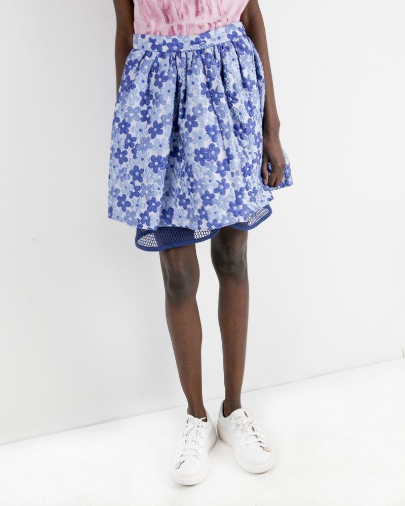 Jupe fleurie bleue Frankie Morello