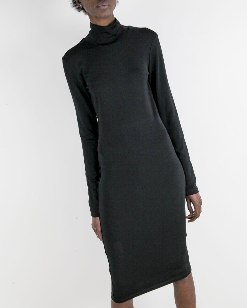 Robe moulante noire à boutons griffés Balmain