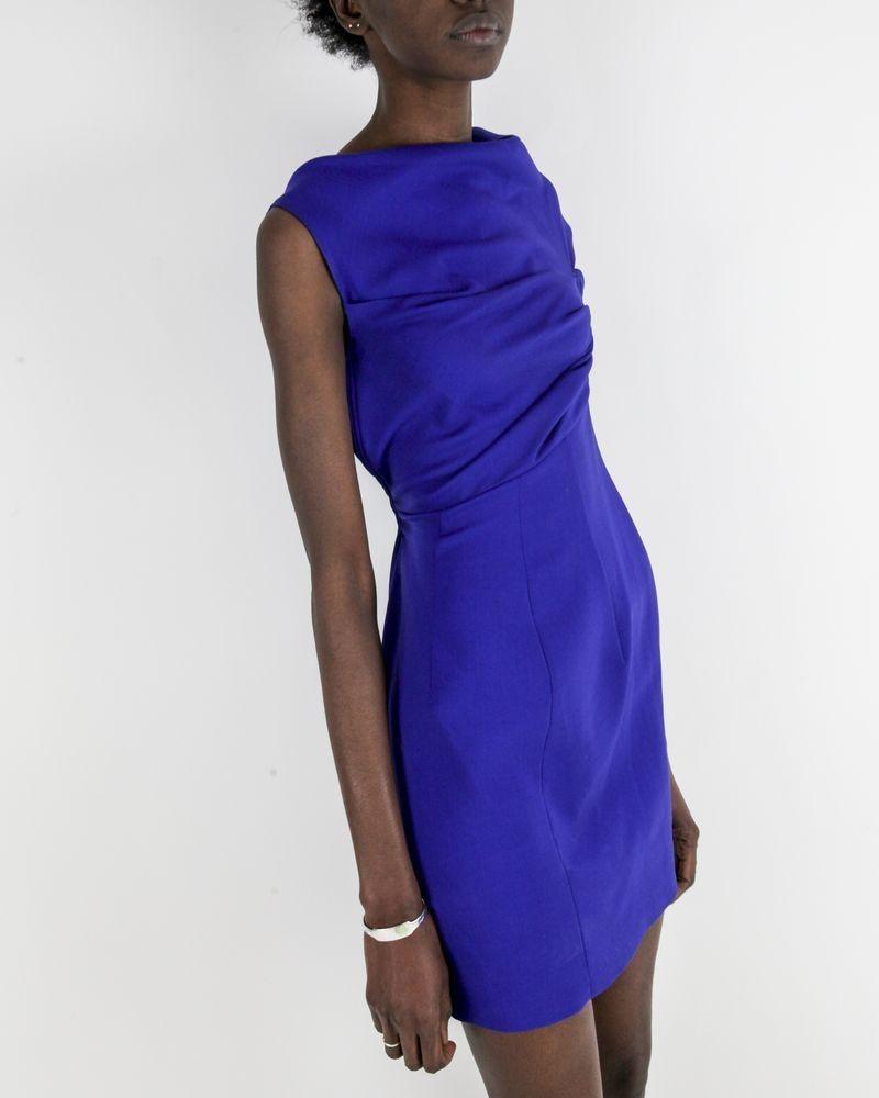 Robe drapé en crêpe violette Dsquared