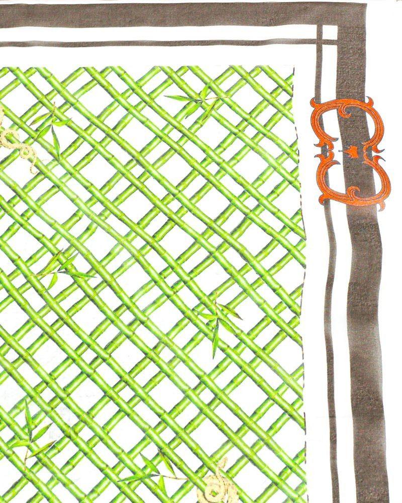 Carre de soie bambou Roberto Cavalli
