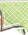 Foulard vert Roberto Cavalli