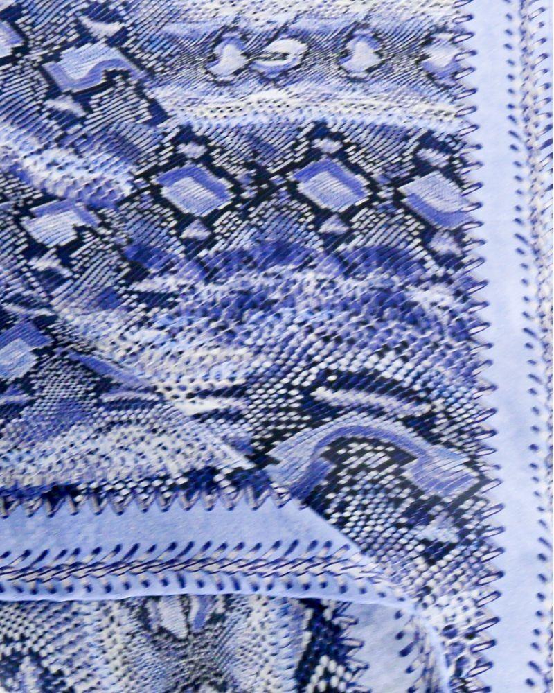 carre de soie python bleu Roberto Cavalli