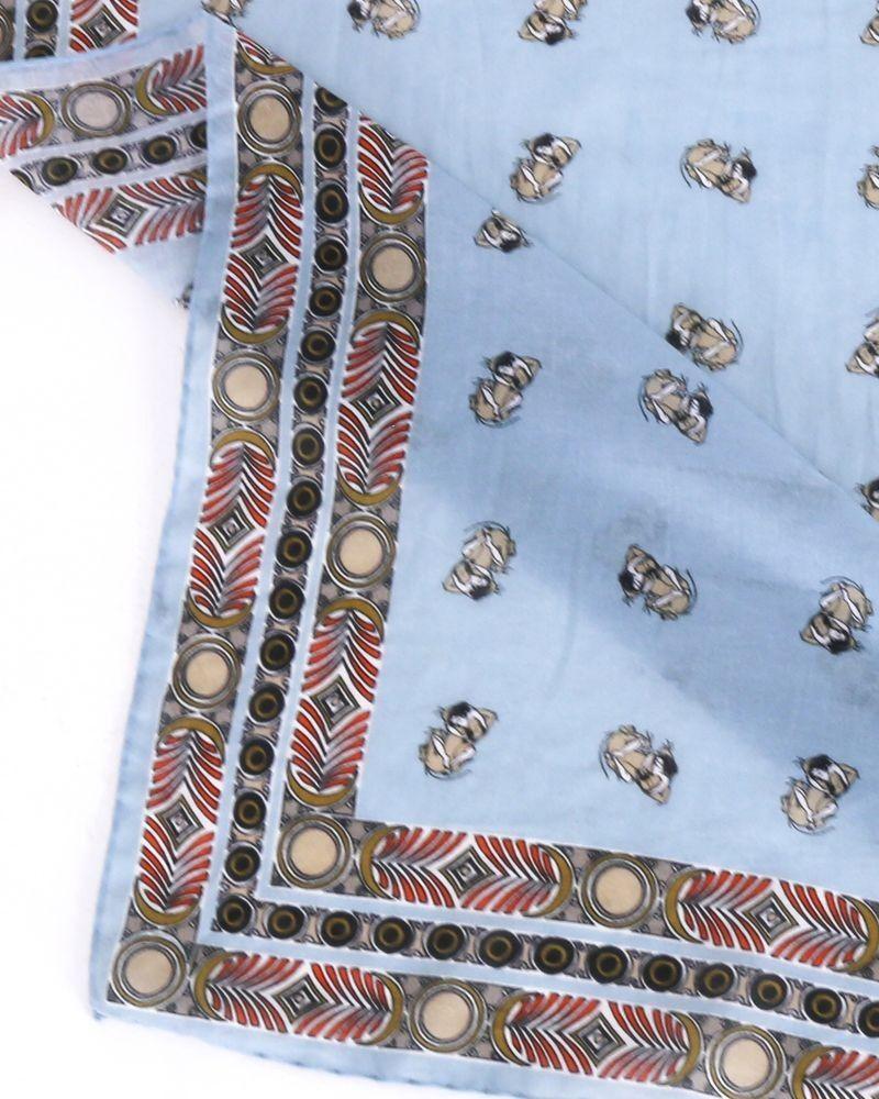 foulard en coton bleu Roberto Cavalli