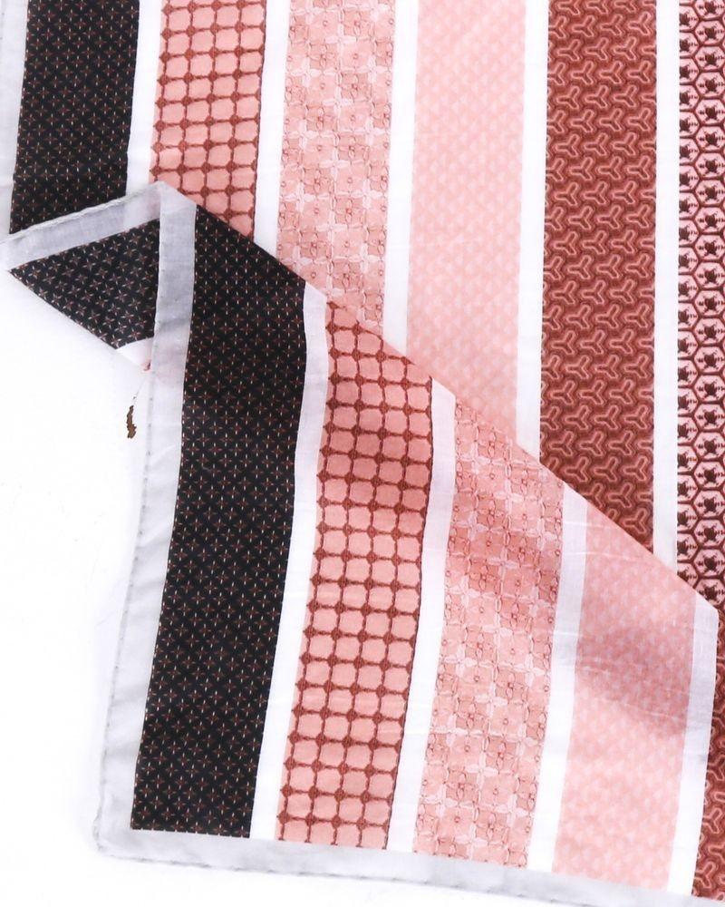 Foulard rose à motifs Roberto Cavalli
