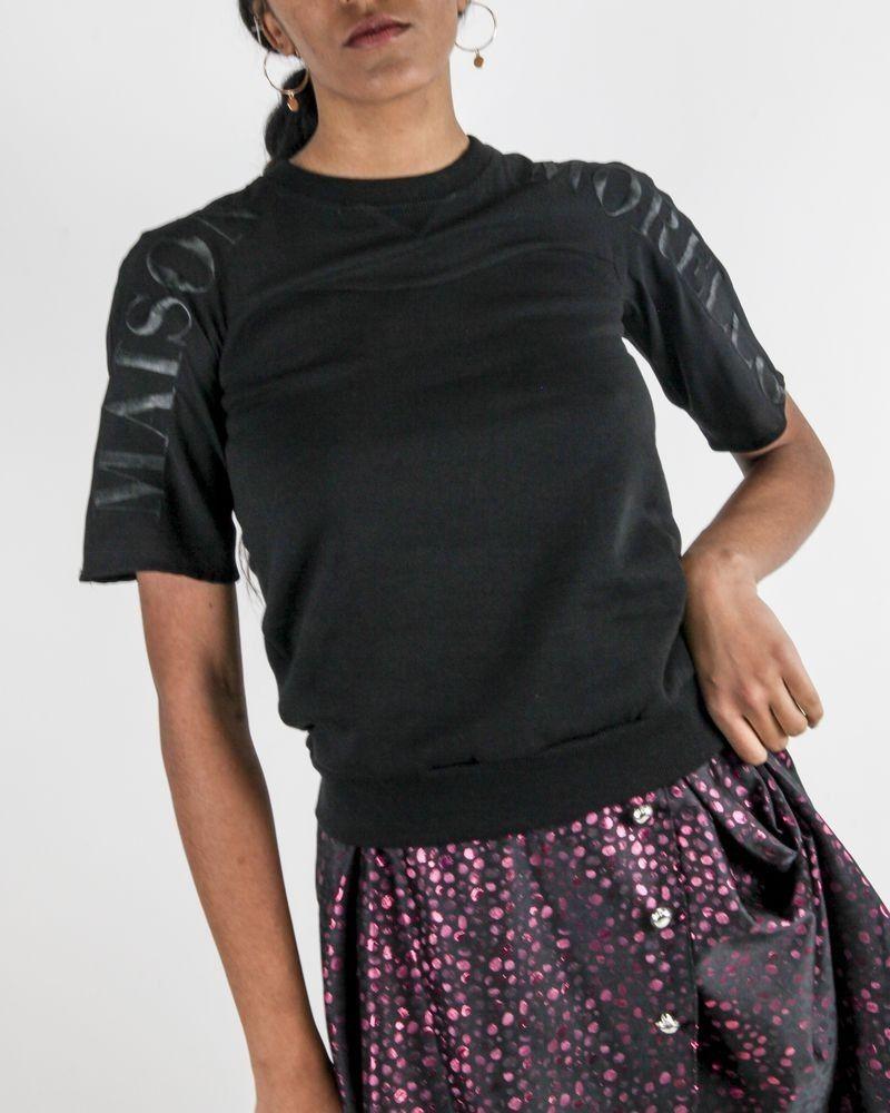 Sweat en coton noir à logo brodé Frankie Morello