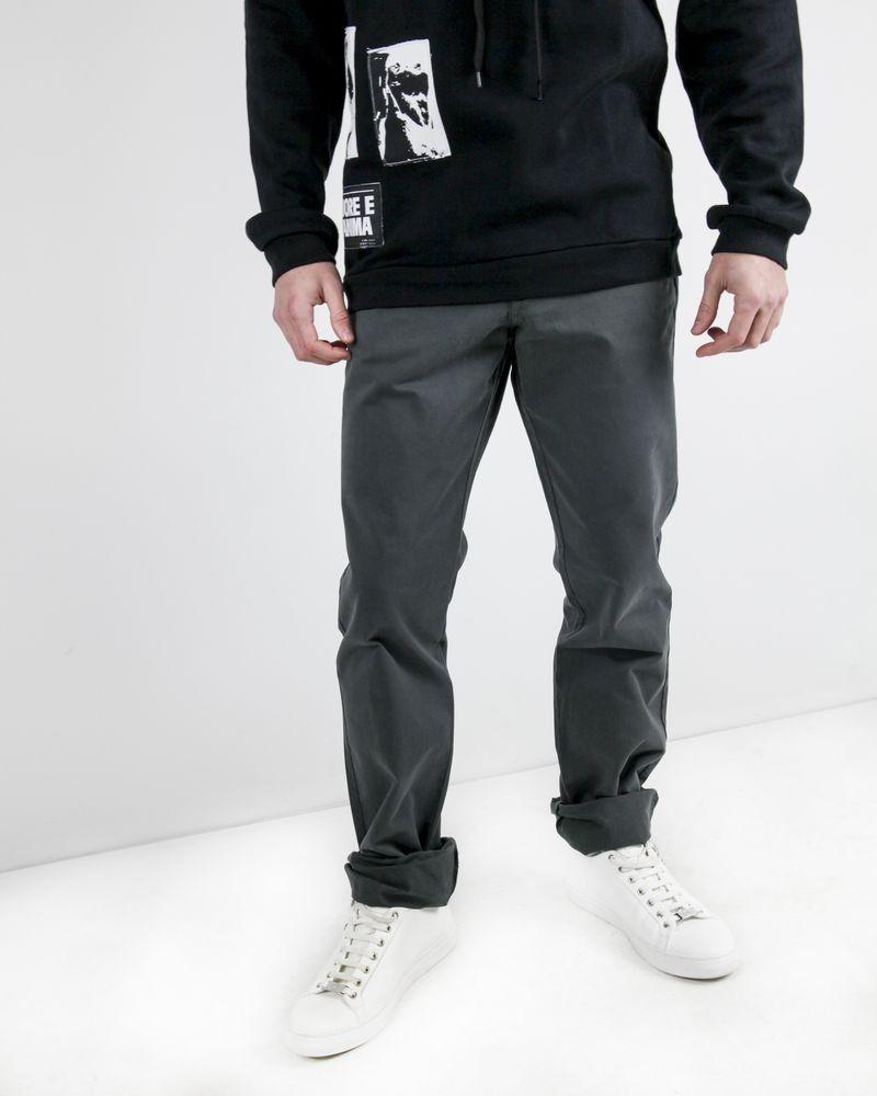 Pantalon régular en coton gris Edition M.R