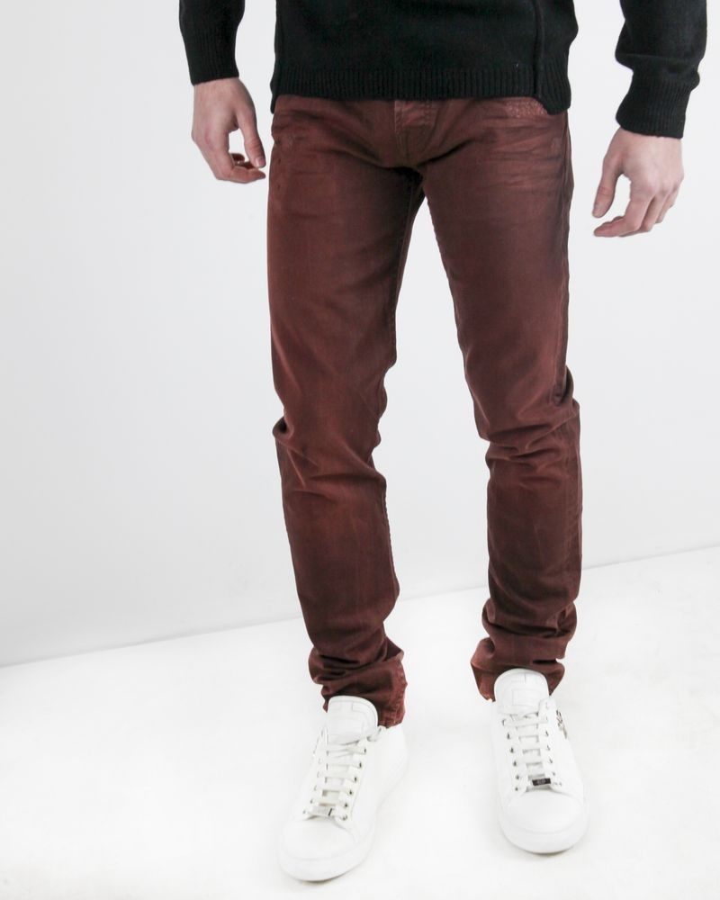 Jean skinny délavé bordeaux 7 for All Mankind