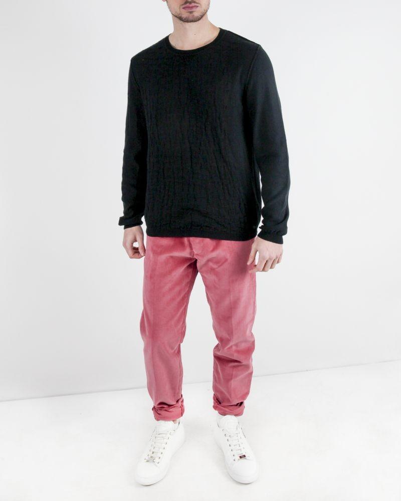 Pantalon regular en velours côtelé rose Edition M.R