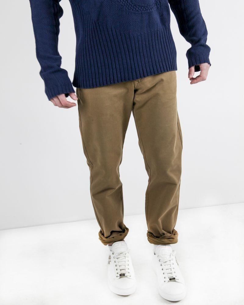 Pantalon chino en coton beige Edition M.R
