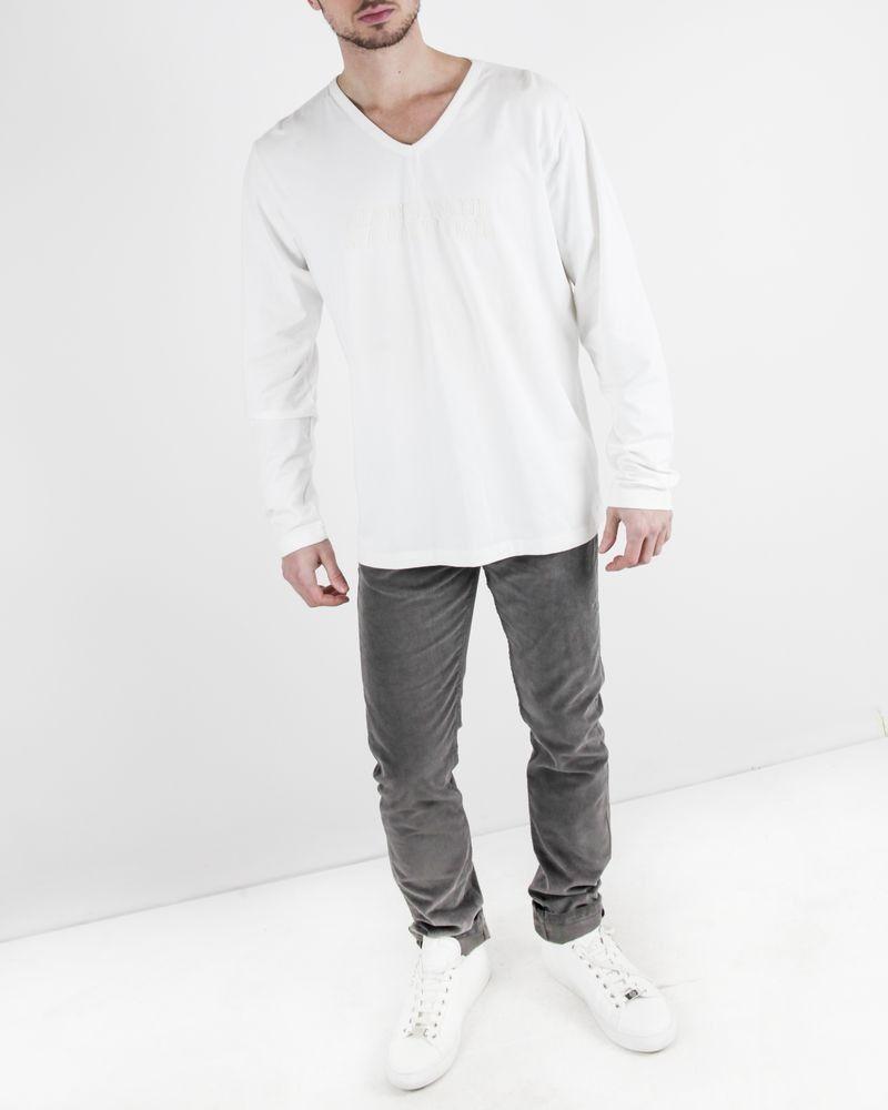 Sweat en coton blanc à logo brodé de perles Jean Paul Gaultier