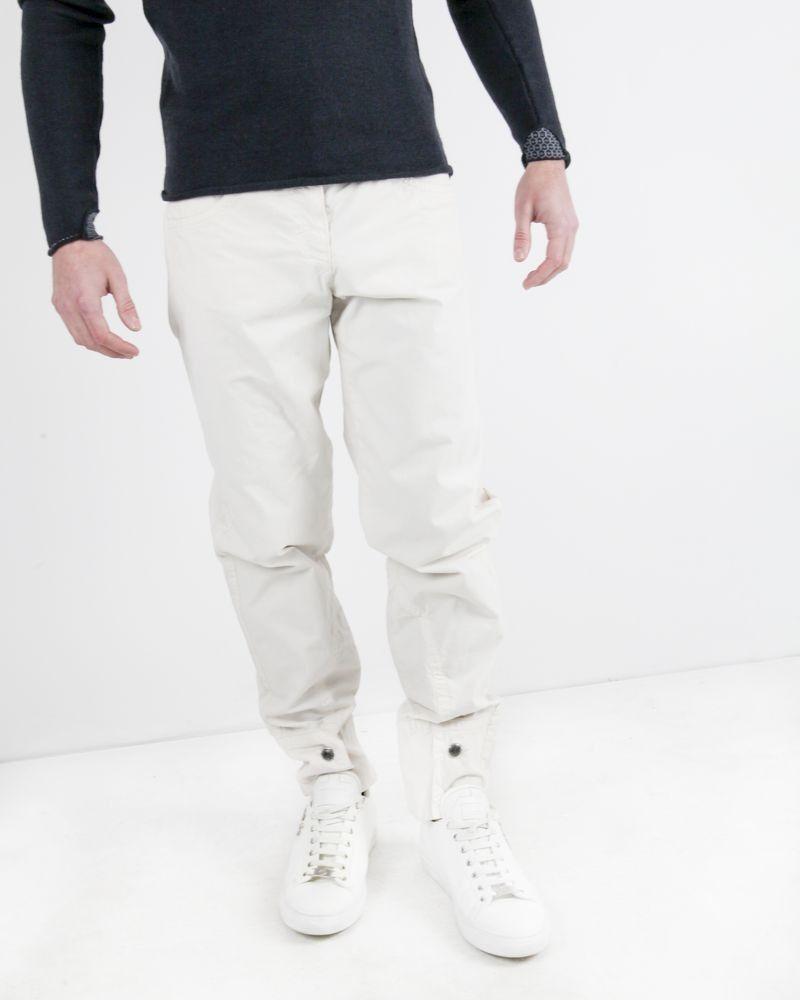Pantalon beige à chevilles boutonnées Jean Paul Gaultier