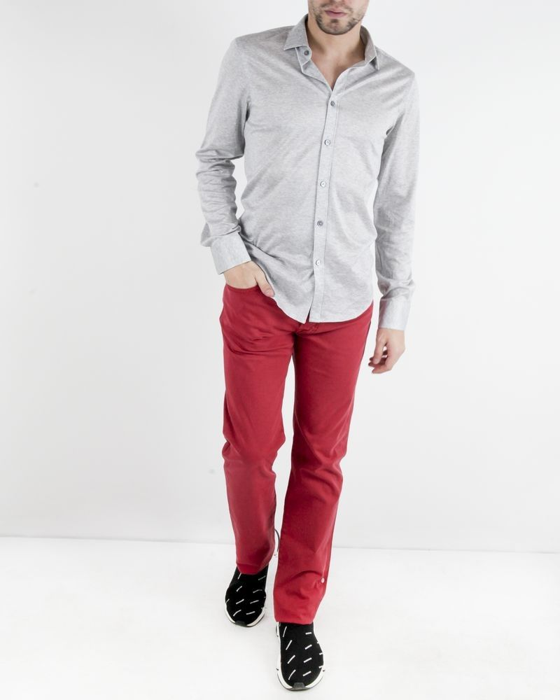 Pantalon slim en coton rouge Jacob Cohen