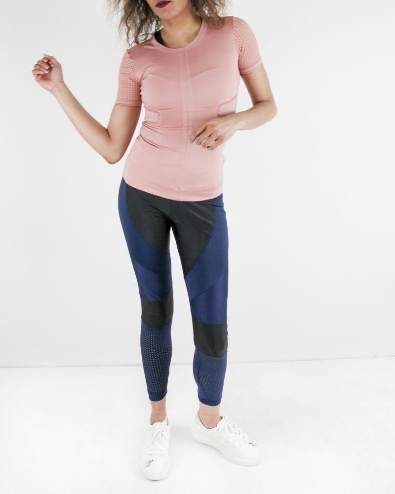 T-shirt technique en élasthanne rose Adidas