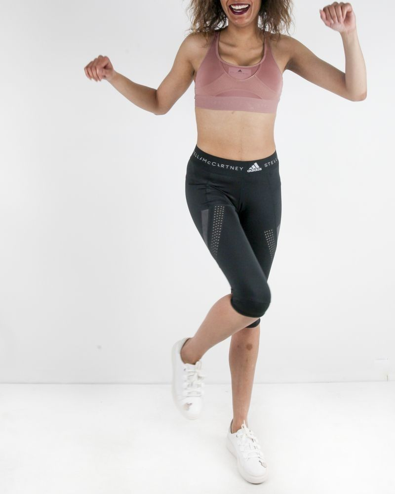 Cycliste court en tissue technique noir Adidas