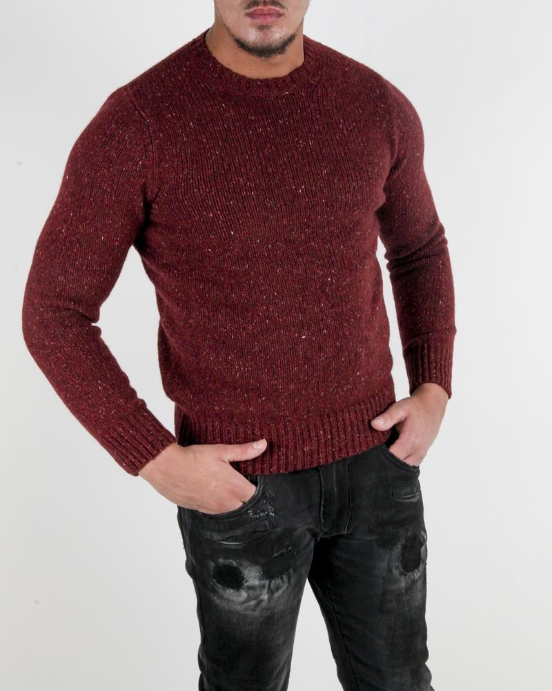 Pull violet col rond Panicale Cashmere