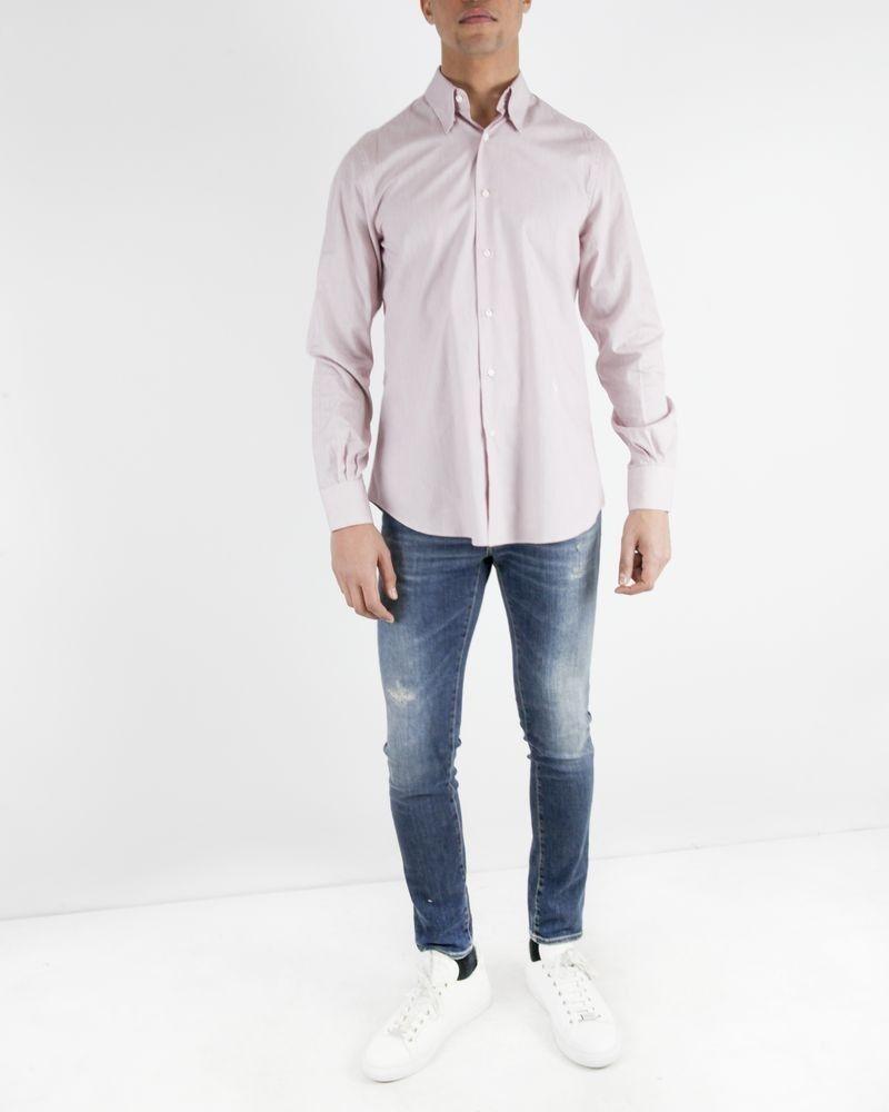 Chemise slim rouge à petits carreaux Roberto Cavalli