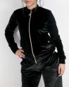 Veste de jogging en velours noir Versace