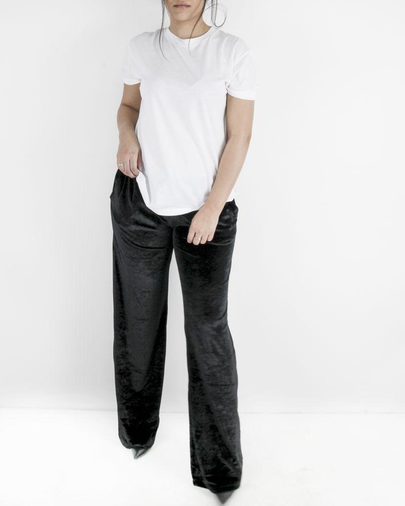 Pantalon de jogging en velours noir Versace
