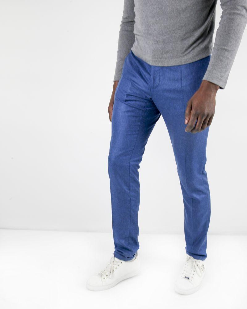 Pantalon tailleur bleu 100% soie Lords & Fools