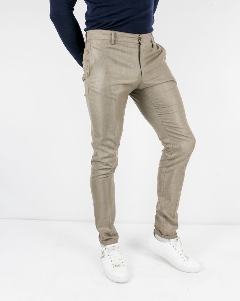 Pantalon tailleur en laine et soie beige Lords & Fools