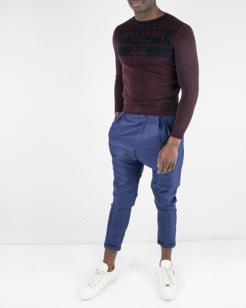 Pantalon tailleur en laine bleu Lords & Fools