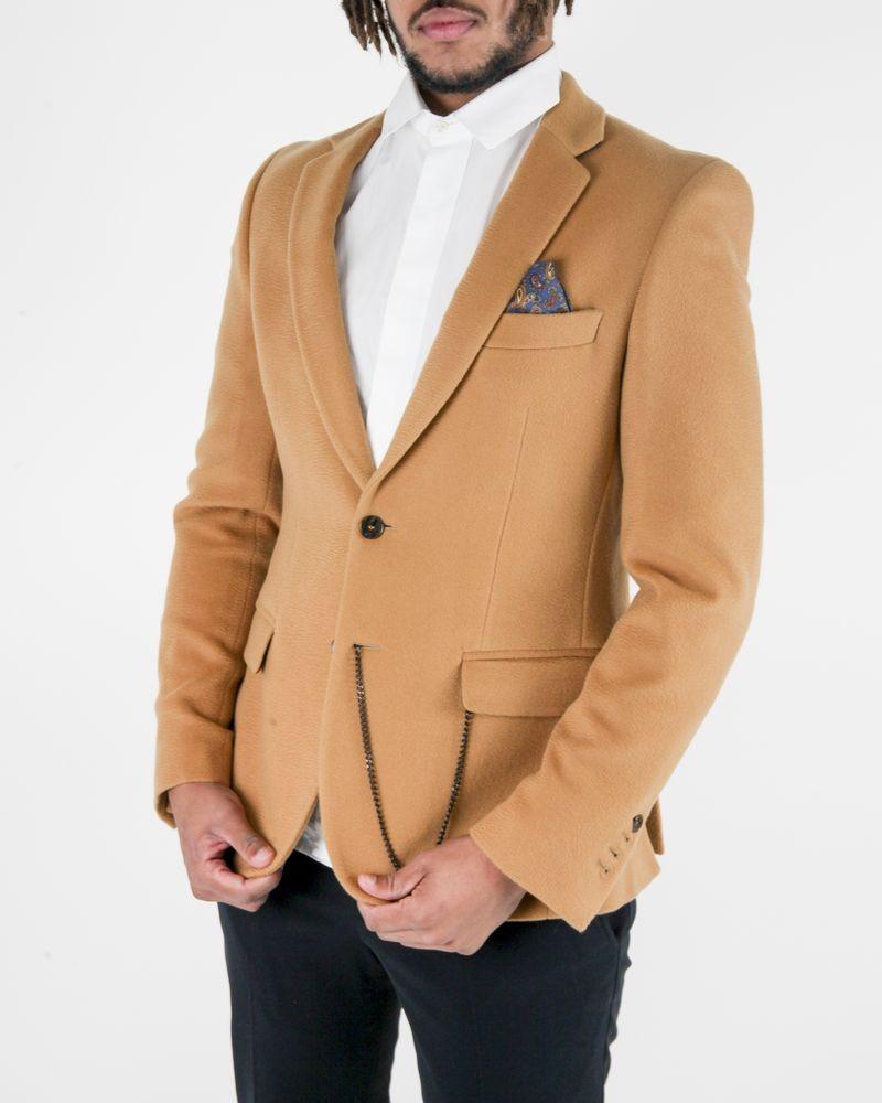 Manteau en laine camel à chaine Lords & Fools