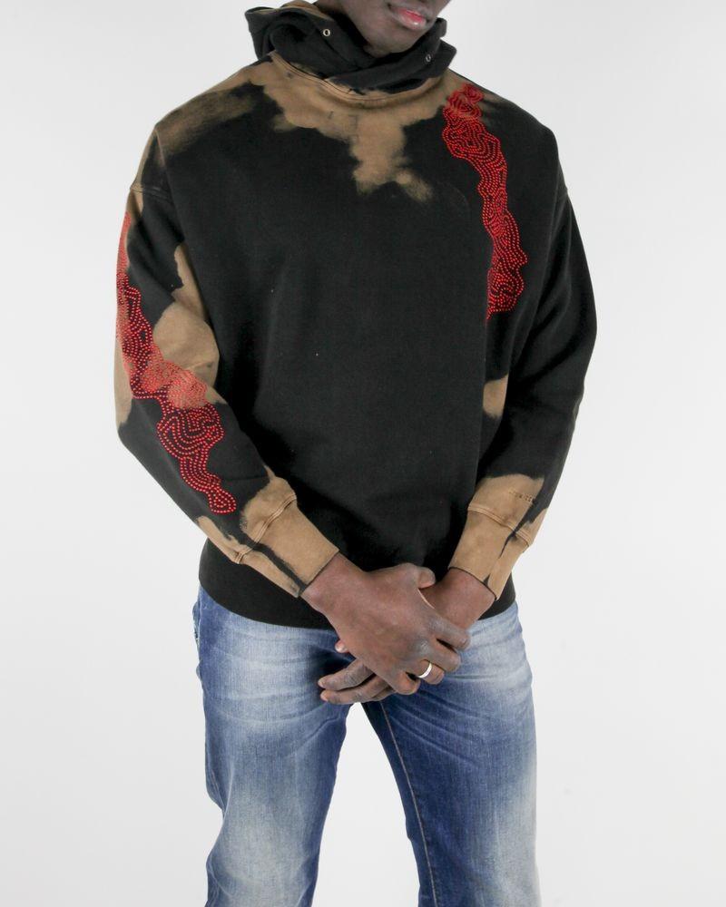 Sweat Tie and Dye noir à broderies Damir Doma